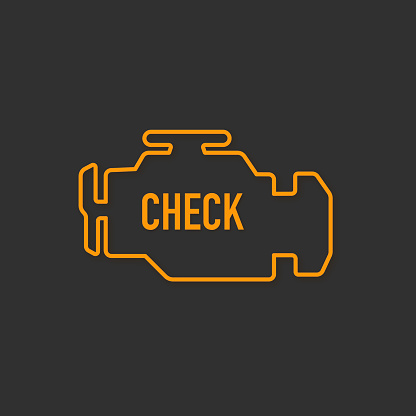 Glowing Check Engine Light